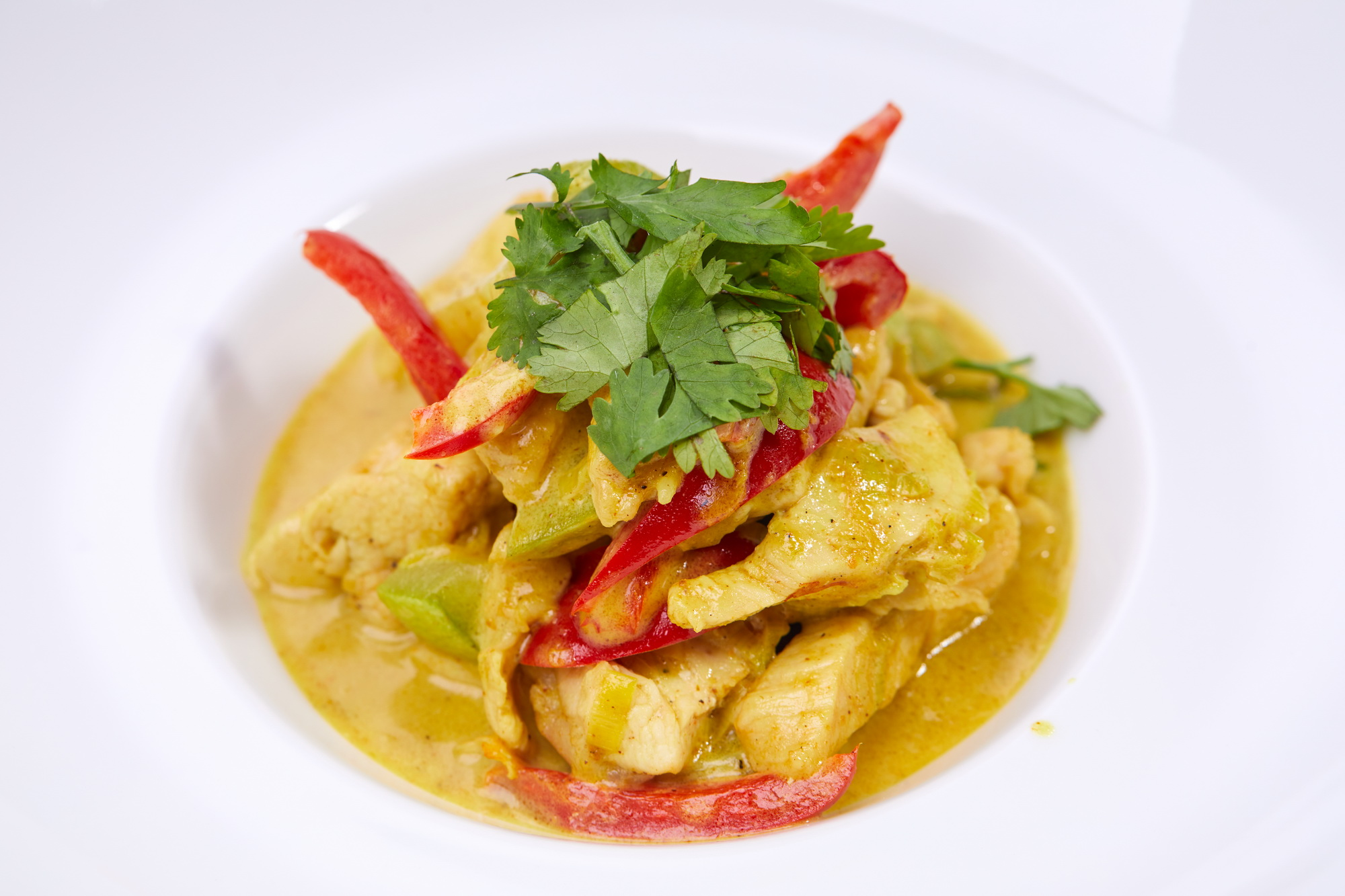 Chicken in Coconut Curry Sauce